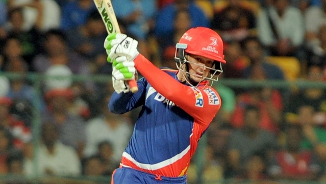 Quinton de Kock of Delhi Daredevils in action during an IPL match between Royal Challengers Bangalore (Photo: IANS)