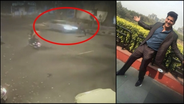 Sidharth Sharma, the 32-year-old marketing consultant who died in a hit-and-run case. (Photo Courtesy: Screengrab from CCTV footage)