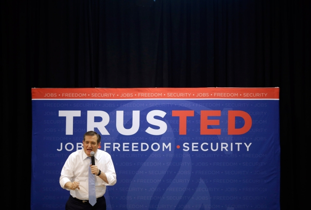 """Cruz has been given a particularly hard time by some voters for speaking disdainfully of """"New York values."""" (Photo: AP)"""