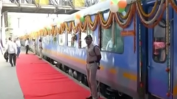 Gatimaan Express ready to be flagged off. (Photo Courtesy: ANI)