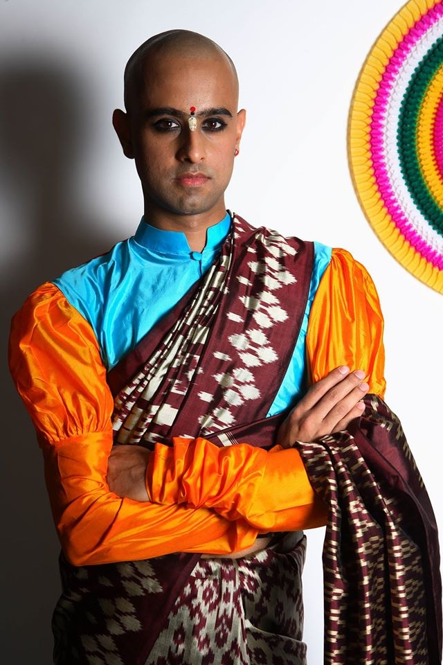 Himanshu Verma, in one of his gorgeous drapes. (Photo Courtesy: Saree Man)