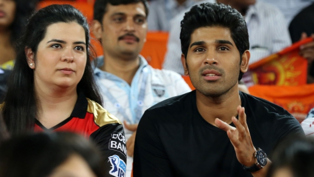 Telugu Actor Allu Sirish was also amongst stars present. (Photo: BCCI)