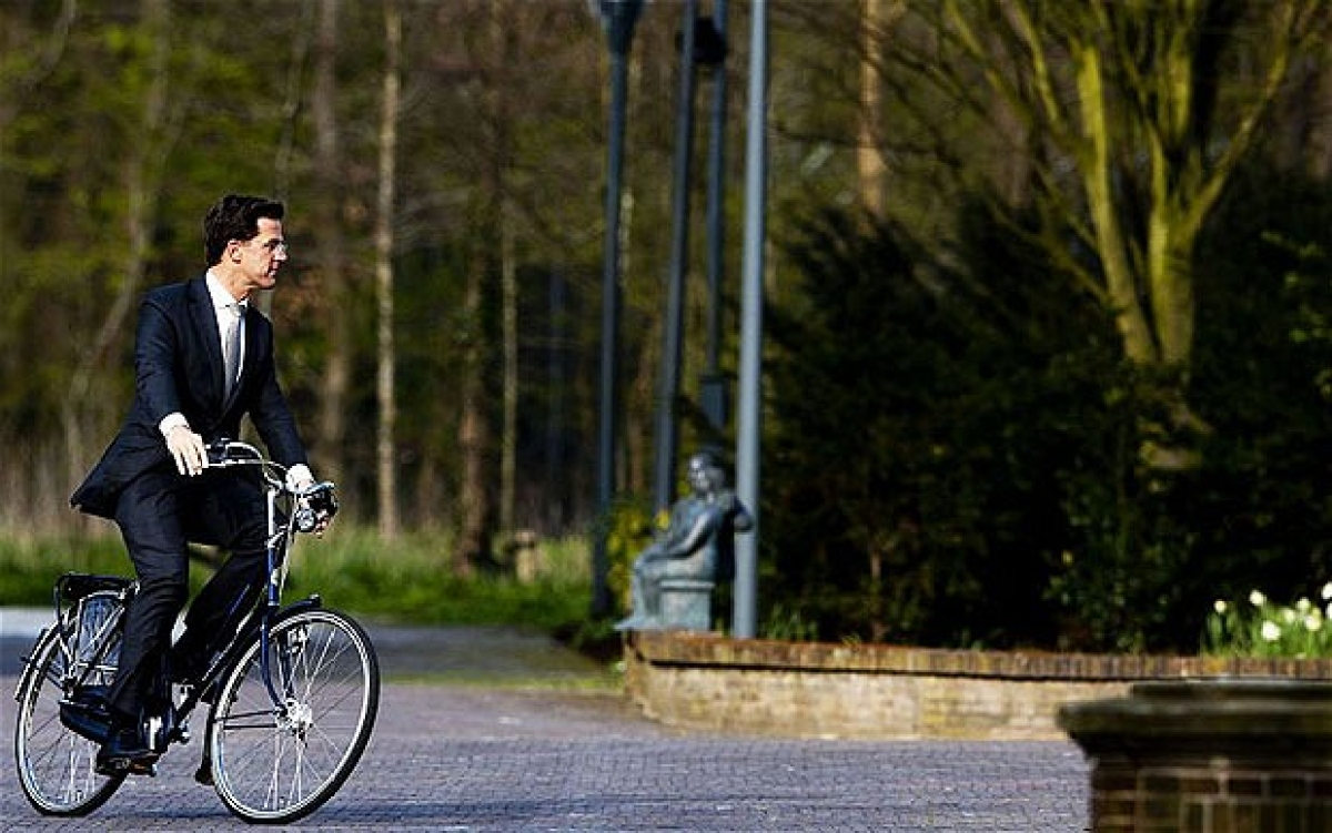 "This definitely looks like the Dutch Prime Minister favourite mode of transport. (Photo: <a href=""http://www.telegraph.co.uk/finance/debt-crisis-live/9220235/Debt-crisis-as-it-happened-April-23-2012.html"">The Telegraph</a>)"