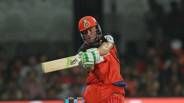 AB de Villiers in action. (Photo: Ron Gaunt/ IPL/ SPORTZPICS)