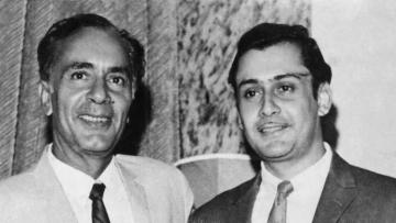 Balraj Sahni with son Parikshit Sahni