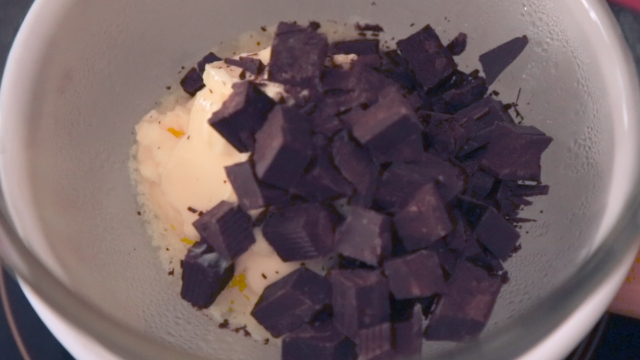 Melt the butter and dark chocolate together. (Photo: <b>The Quint</b>)