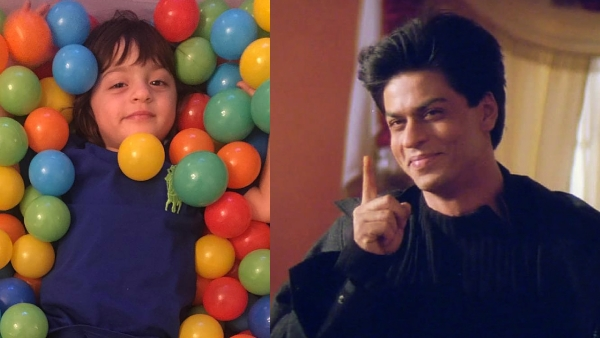 Shah Rukh Khan shares an clever and adorable picture of his son AbRam via social media (Photo: Instagram/@KaranJohar; a still from <i>Kabhi Khushi Kabhie Gham</i>)