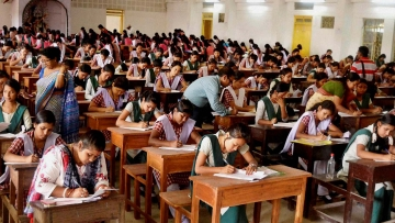 Representational image of students appearing for class 12 exam.