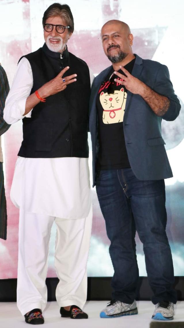 Team <i>TE3N</i>posing with the film's album. (Photo: Yogen Shah)