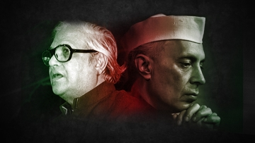 Poet Majrooh Sultanpuri (L) and Jawaharlal Nehru. (Photo: The Quint)