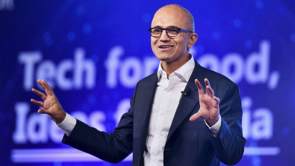 Microsoft CEO Satya Nadella brewing coffee now. (Photo: PTI)