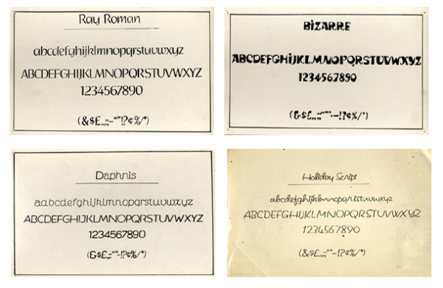 Fonts created by Satyajit Ray.