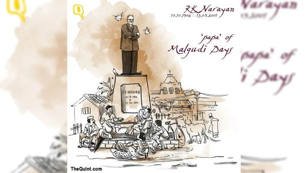 RK Narayan is known for his simple, subtle yet humorous style of writing. (Photo: Susnata Paul/<b>The Quint</b>)