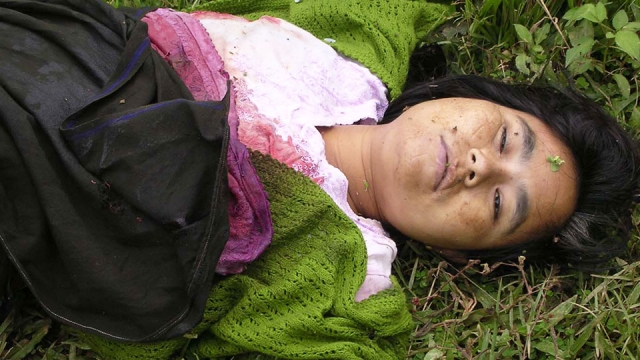 Manorama's was allegedly killed in a fake encounter by the Indian Army, after raping her.  (Photo: Sunzu Bachaspatimayum)