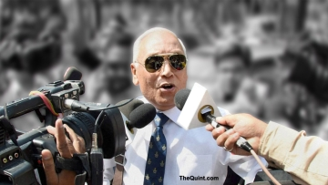 Former Indian Air Force Chief SP Tyagi. (Photo: PTI/ Altered by <b>The Quint</b>)