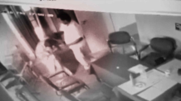 A still from the CCTV footage of alleged rape attempt. (Photo: ANI Screengrab)