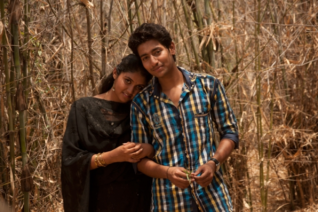 The lead cast of <i>Sairat</i> in a scene from the film