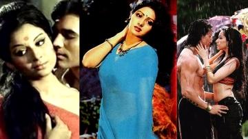 Sharmila Tagore in <i>Aradhana</i>, Sridevi in <i>Mr India</i>, and Shraddha Kapoor in  <i>Baaghi.</i>