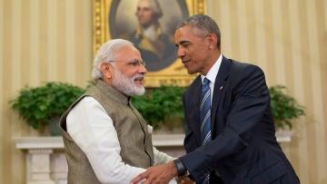 Prime Minister Narendra Modi with US President Barack Obama.