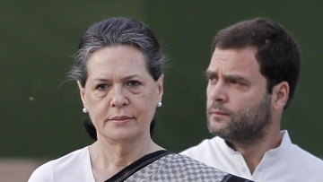 UPA Chairperson Sonia Gandhi with Congress President Rahul Gandhi in a file photo.