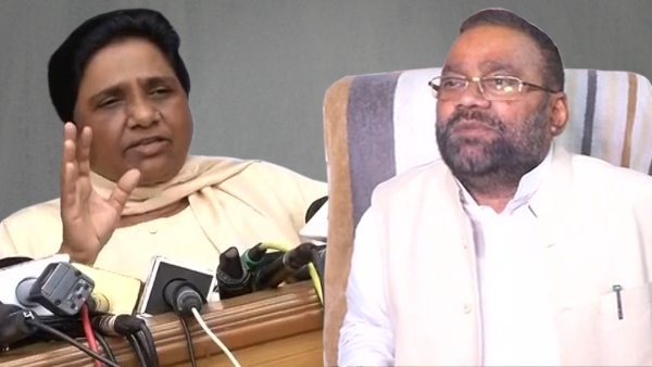 BSP supremo Mayawati (left) on Saturday launched a scathing attack on former BSP leader Swami Prasad Maurya (right). (Photo: altered by The Quint)
