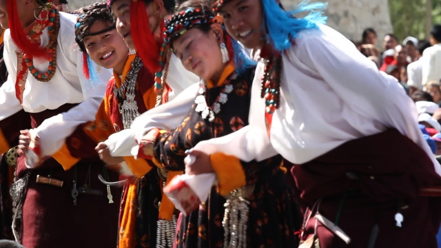Morup travelled throughout Ladakh staging song and dance performances that aimed to inspire pride in the Ladakhi identity. (Photo Courtesy: Erik Koto)