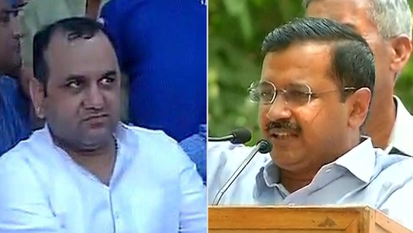 Arvind Kejriwal demands Maheish Girri's arrest regarding the murder of NDMC official (Photo : Altered by The Quint)