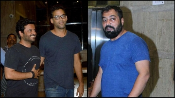 (From left) Vikas Bahl,  Vikramaditya Motwane and Anurag Kashyap at the screening of a film.