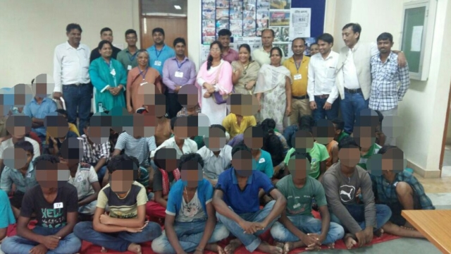 "Children saved from child abuse. (Photo: Twitter @<a href=""https://twitter.com/k_satyarthi"">k_satyarthi</a>)"