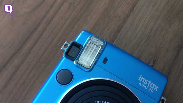 The bulging flash light of the Instax Mini 70. (Photo: <b>The Quint</b>)