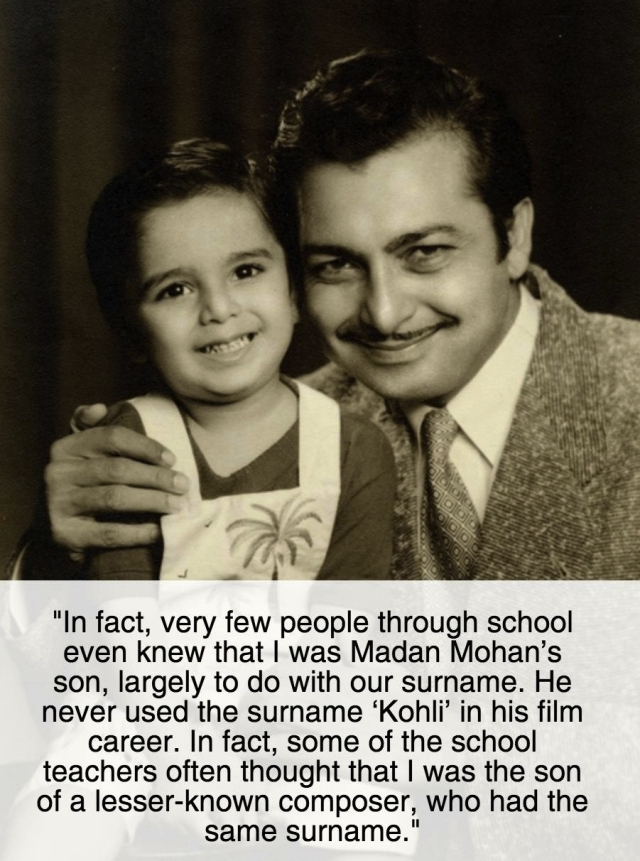 Madan Mohan with his eldest son Sanjeev Kohli (Photo courtesy: Sanjeev Kohli)