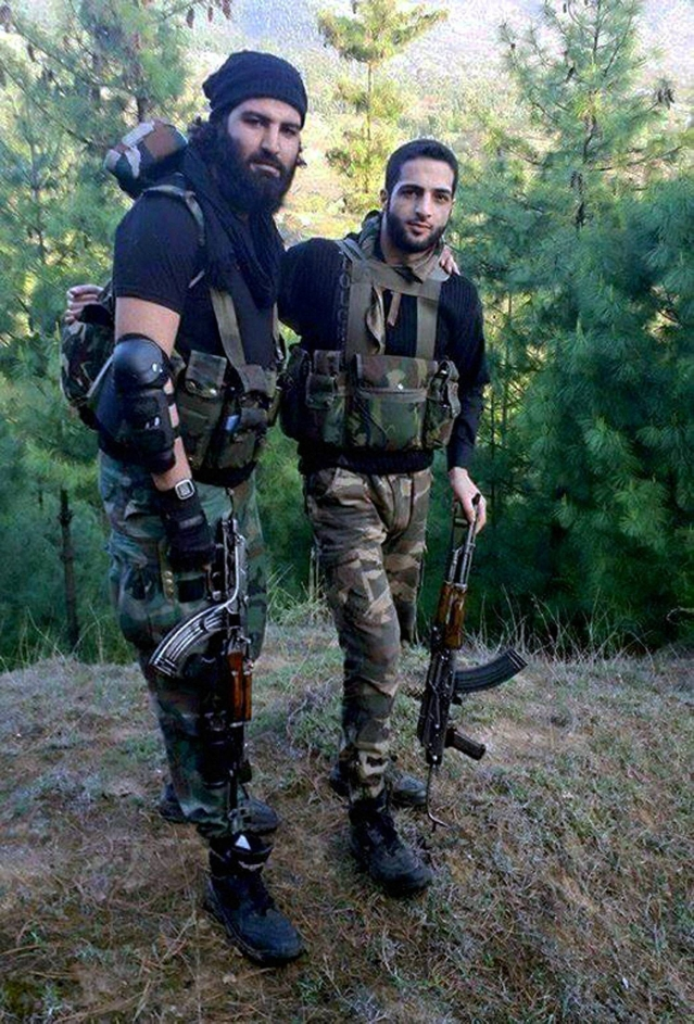 File photo of Burhan Wani (right), a 21-year-old commander of the Hizbul Mujahideen. (Photo: PTI)