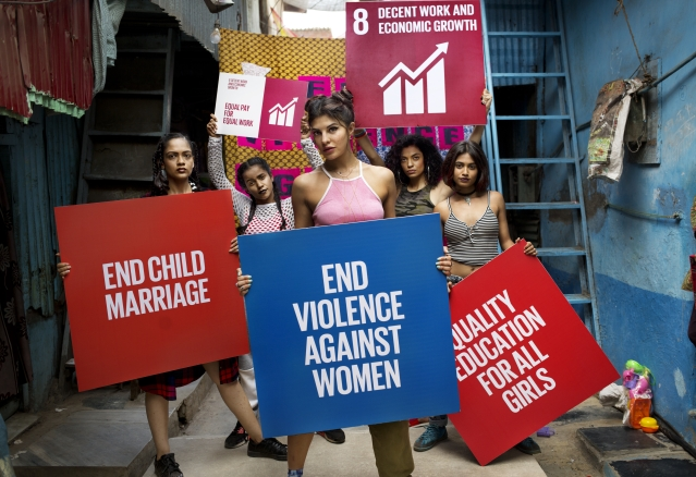 Several campaigns have been carried out to sensitise people about women's rights. Actor Jacqueline Fernandez was seen in the #WhatIReallyReallyWant film – a remake of the hugely popular Spice Girls video – in support of the Global Goals campaign for women and girls.