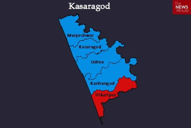 Most people who have gone missing and are feared to have joined ISIS belong to areas around Kasargod and Palakkad in Kerala (Photo Courtesy: Map by <i>The News Minute</i>)