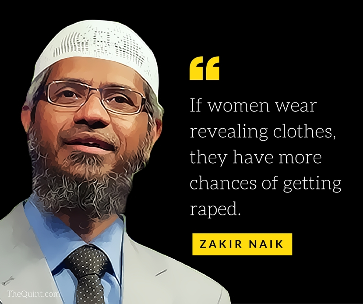 Resultado de imagen para Zakir Naik misogyny