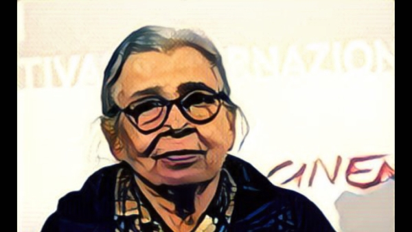 "Mahasweta Devi (Photo Courtesy: Twitter/<a href=""https://twitter.com/indianeagle"">@indianeagle</a>/Altered by The Quint)"