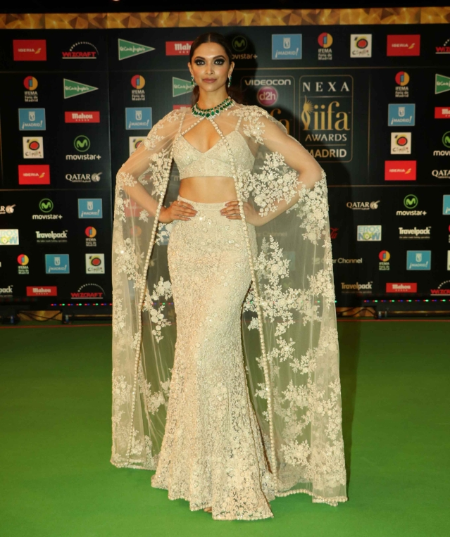 Deepika Padukone at the green carpet at IIFA in Madrid. (Photo Courtesy: Yogen Shah)