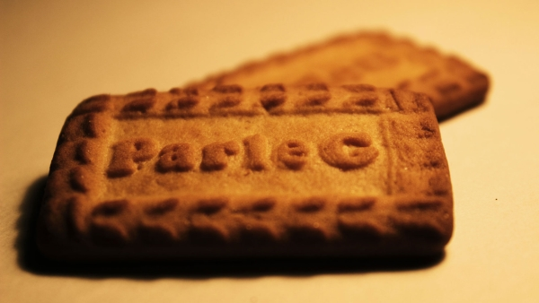 Parle G biscuits, a well-known product of the Parle brand.