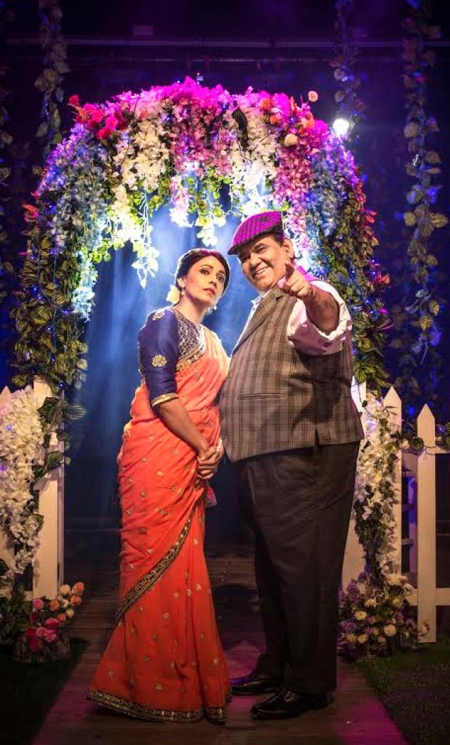 Satish Kaushik and Meghna Malik in <i>Mr</i>. <i>and</i> <i>Mrs</i>. <i>Murarilal.</i> (Photo Courtesy: Mindworkz)