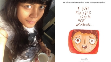 Pranita Kocharekar with one of her illustrations. (Photo courtesy: Instagram)