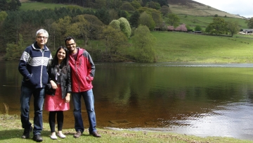 Bobby Tiwana and Abhijit Shetty share their lives and stories with me at a lakeside in Sheffield. (Photo: Megha Mathur)