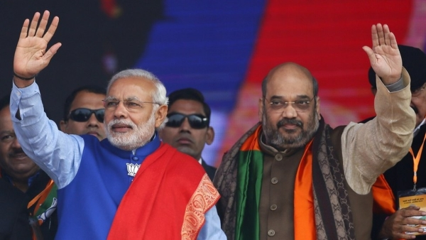 Prime Minister Narendra Modi (left) and BJP President Amit Shah (right). (File photo: PTI)