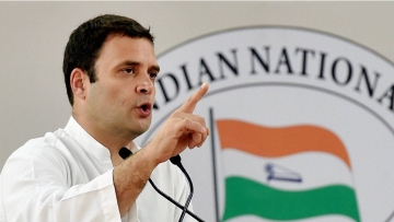 File photo of Congress President Rahul Gandhi addressing a function in New Delhi.