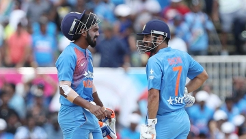 KL Rahul and MS Dhoni were the last 2 Indian batsmen at the crease. (Photo: BCCI)