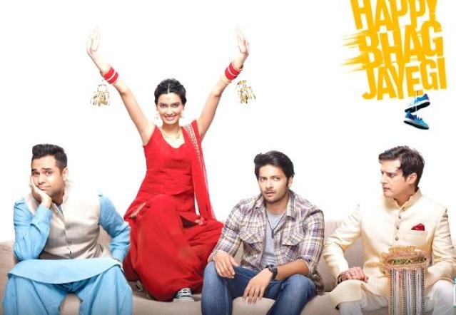 A poster of <i>Happy Bhag Jayegi</i>.