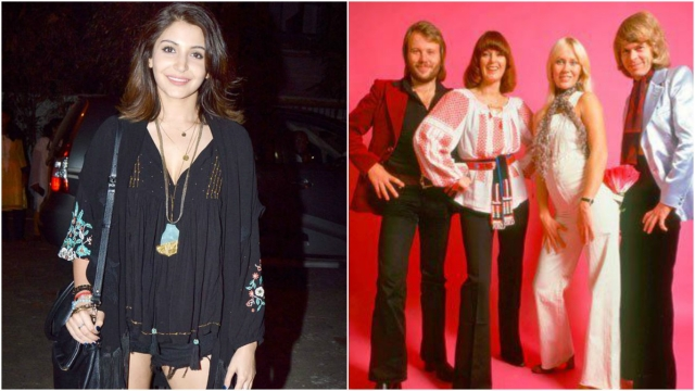 Anushka Sharma (left), ABBA's Anni Frid Lyngstad is wearing a Romanian peasant blouse (Photo Courtesy: Pinterest.com)