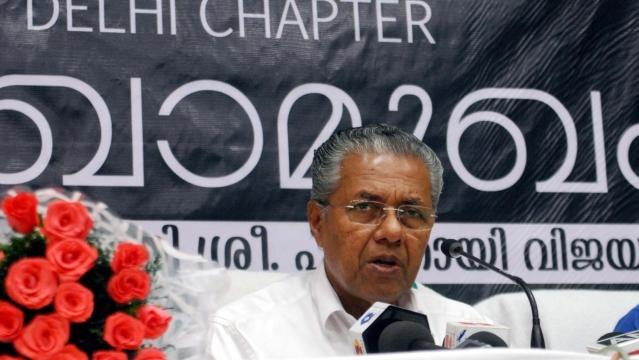Kerala Chief Minister Pinarayi Vijayan addresses a press conference, New Delhi, 18 June, 2016. (Photo: IANS)