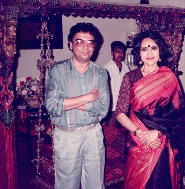 The writer Khalid Mohamed with Vyjayanthimala. (Photo: Khalid Mohamed)