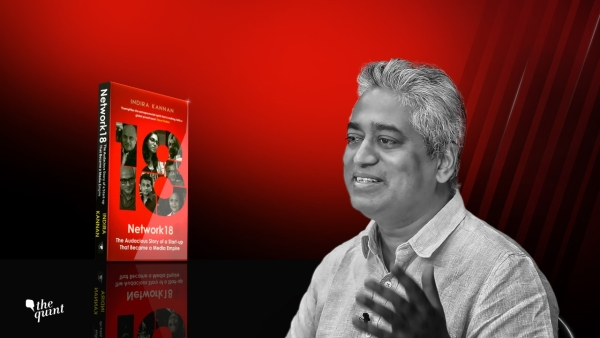 Rajdeep Sardesai speaks about Network 18. (Photo: Hardeep Singh/<b>The Quint</b>)