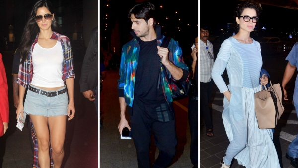 Katrina Kaif, Sidharth Malhotra and Kangana Ranaut spotted at international airport. (Photo: Yogen Shah)
